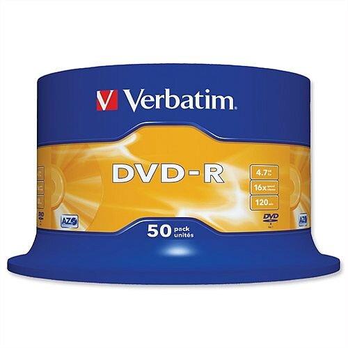 Verbatim DVD-R Recordable Disk on Spindle Pack 50
