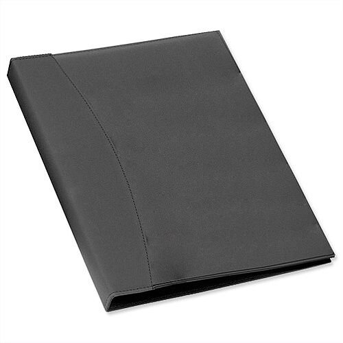 Rexel Display Book Smooth Leather Effect Black Cover 24 Pockets