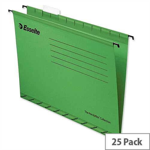 Esselte Pendaflex Economy Suspension File Foolscap Green Pk 25 90337