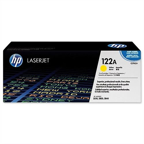HP 122A Yellow LaserJet Toner Cartridge High Yield Q3962A