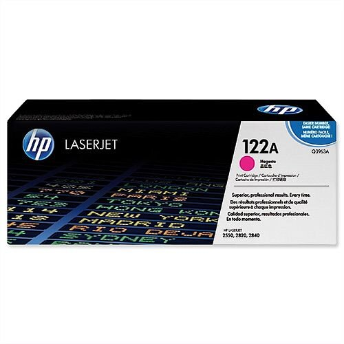 HP 122A Magenta LaserJet Toner Cartridge High Yield Q3963A