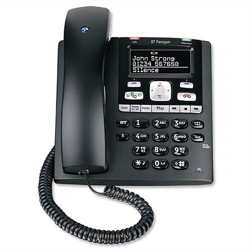 BT Paragon 650 Telephone Corded. Send &Receive Text Messages, Insert SIM Card For Reading &Writing &Is Also Hearing Aid Compatible With Inductive Coupler.