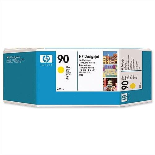 HP 90 Yellow Dye Ink Cartridge 400ml C5065A