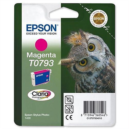 Epson Owl T0793 Magenta Ink Cartridge