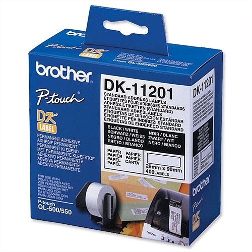 50 Rolls compatible with Brother DK11201 P Touch Address Shipping Labels 29x90mm