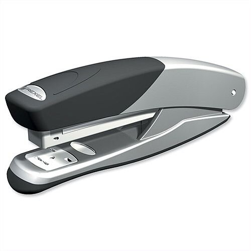 Rexel Stapler Torador Full Strip Metal Punches 25 Sheets Silver-Black