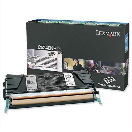 Lexmark C5240KH High Yield Black Toner Cartridge