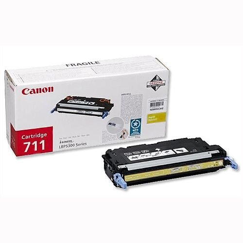 Canon 711 Toner Cartridge Yellow 1657B002 711Y