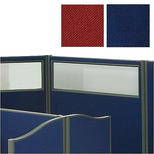 Trexus Plus Top Vision Screen Floor-standing with Window W1200xD52xH1500mm Royal Blue 757665
