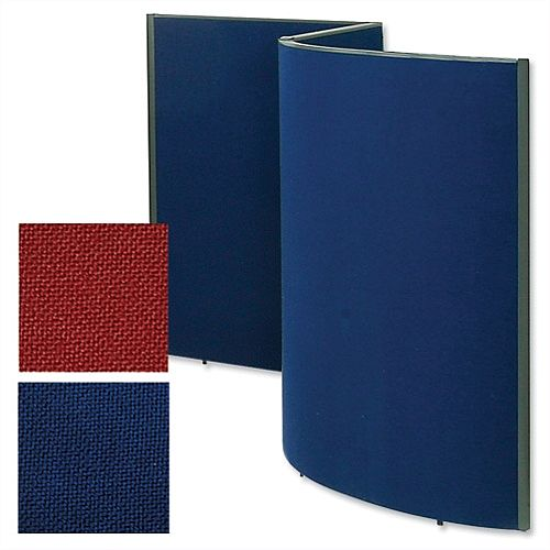 Trexus Plus Curved Screen Radius 800xD52xH1800mm Royal Blue 759305