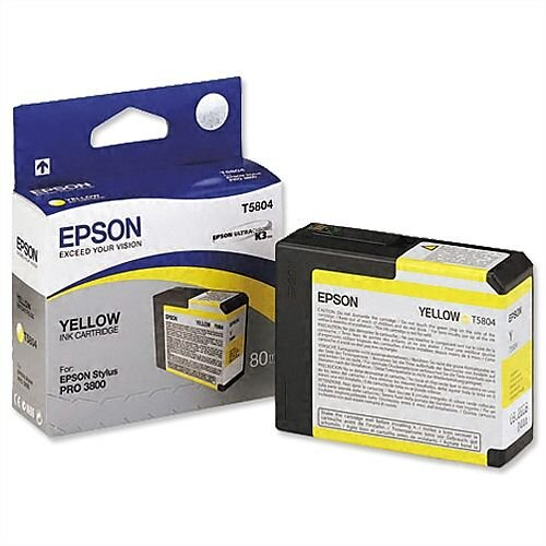 Epson T5804 Yellow Ink Cartridge C13T580400