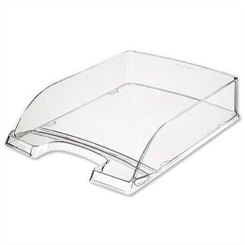 Plus Letter Tray High Sided Clear Leitz