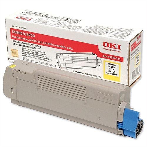 OKI 43324421 Yellow Toner Cartridge