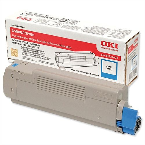 OKI 43324423 Cyan Toner Cartridge