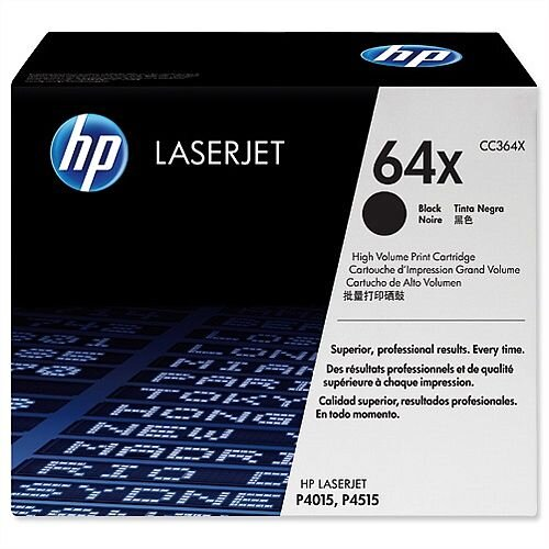 HP 64X Black High Yield Toner Cartridge CC364X