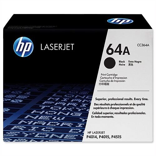 HP 64A Black LaserJet Laser Toner Cartridge CC364A
