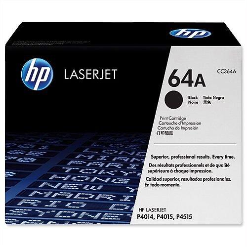 HP 64A Black LaserJet Laser Toner Cartridge CC364A