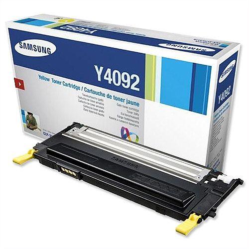 Samsung Y4092 Yellow Toner Cartridge CLT-Y4092S/ELS