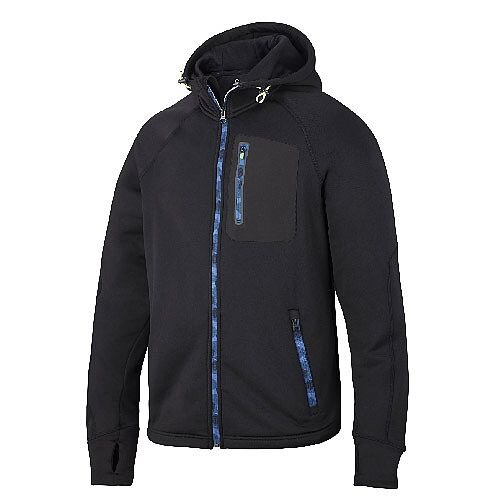 Snickers 8000 FlexiWork Stretch Fleece Hoodie Black