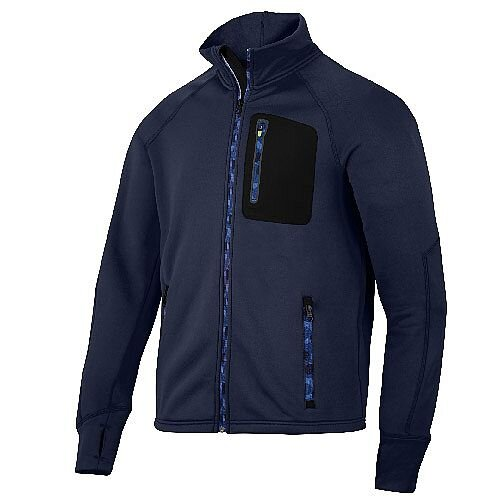 Snickers 8001 FlexiWork Stretch Fleece Jacket Navy/Black
