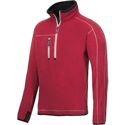 Snickers 8013 A.I.S. Half Zip Fleece Size L Red WW4