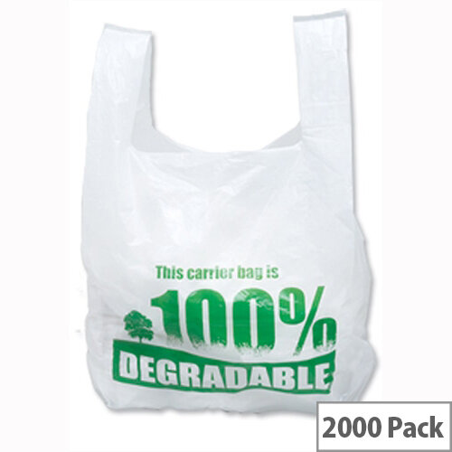 Carrier Bag 280 X 430 X 533Mm High Tensile Eco Degradable Green Tint Pack 2000 CB-SPIC01-B