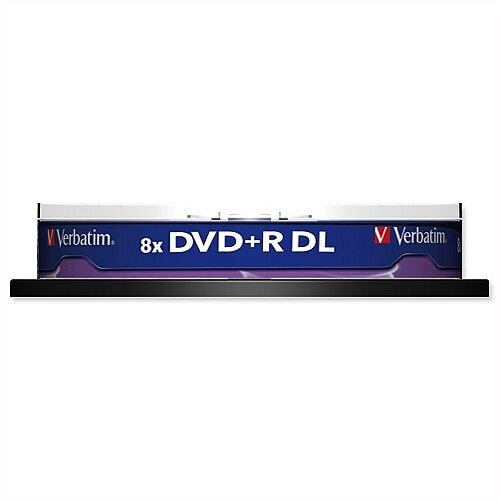 Verbatim DVD+R Dual Layer 8.5GB Spindle Pack 10