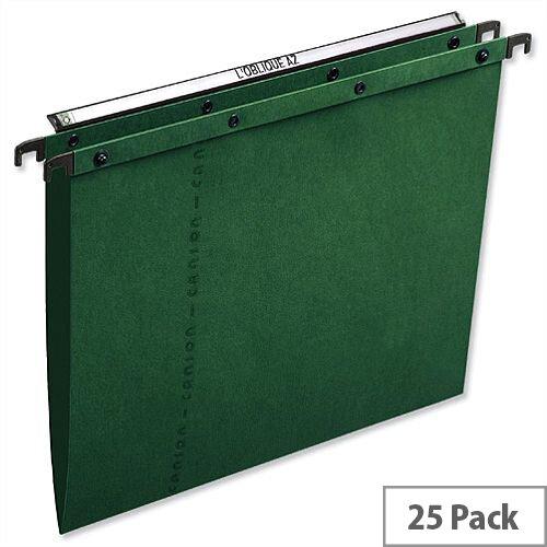 Elba Ultimate AZ0 Vertical Foolscap Suspension File 15mm  V-Base Green L206550 Pack 25