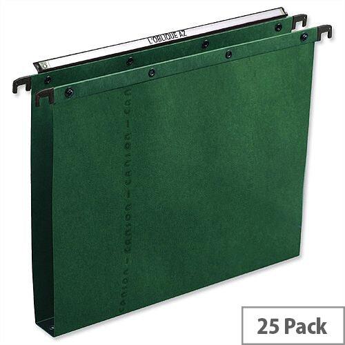 Elba Ultimate AZ0 Vertical Foolscap Suspension File Green 30mm L206552 Pack 25