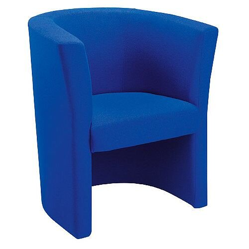 Fabric Upholstered Tub Armchair Royal Blue