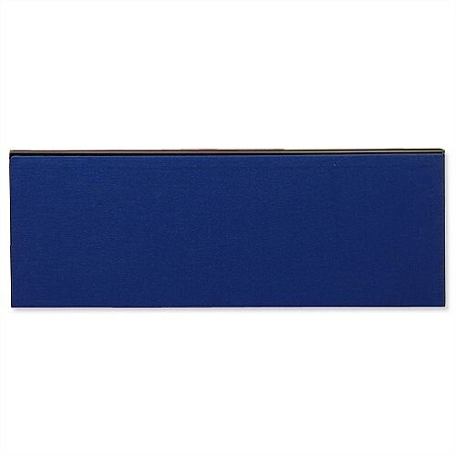Jump Office Desk Screen Straight Top W1200xH400mm Dark Blue