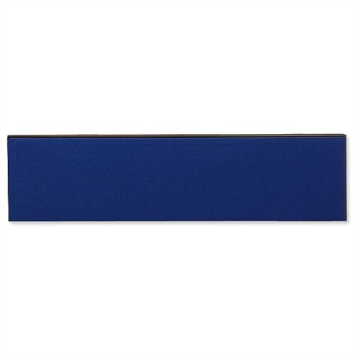 Jump Office Desk Screen Straight Top W1800xH400mm Dark Blue