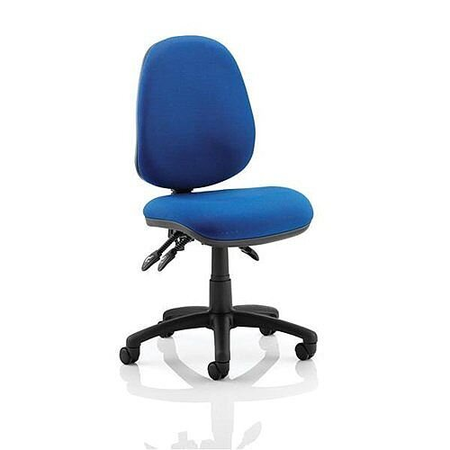 Trexus Lumb-Air High Back Task Operators Office Chair With Back Support Blue
