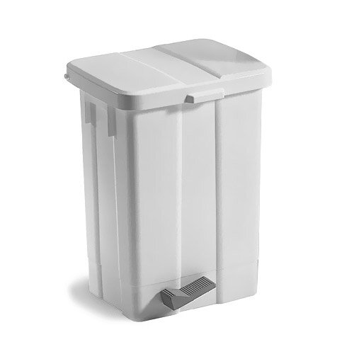 Patty Plastic White Pedal Bin With Cover 25L