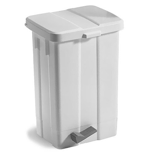 Patty Plastic White Pedal Bin With Cover 50L