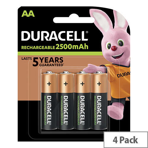 d3eb50f0523 Duracell Stay Charged AA Battery Rechargeable 1950mAh 1.2V Pack 4 -  Huntoffice.ie