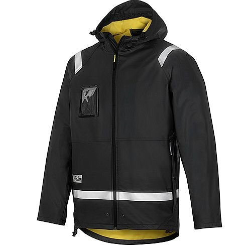 Snickers 8200 Rain Jacket PU Size L Black Regular