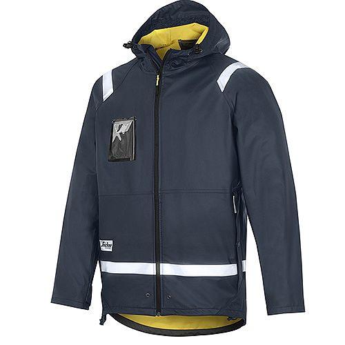 Snickers 8200 Rain Jacket PU Size XXL Navy Regular