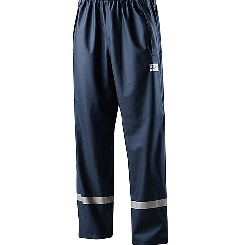 Snickers 8201 Rain Trousers PU Navy Size S