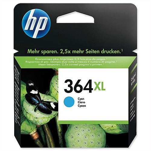 HP 364XL Cyan Inkjet Cartridge CB323EE