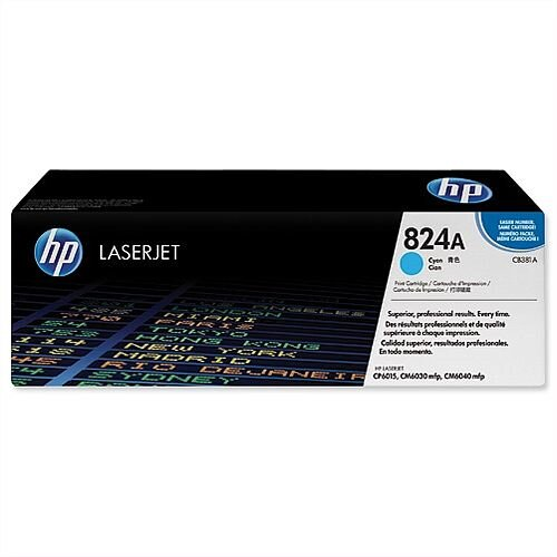 HP 824A Cyan Laserjet Laser Toner CB381A