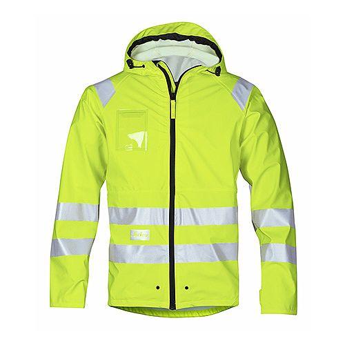 Snickers 8233 High-Vis PU Rain Jacket Yellow Class 3 Size M