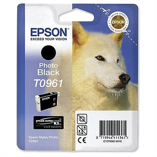 Epson T0961 Photo Black Ink Cartridge Husky Series T09614010
