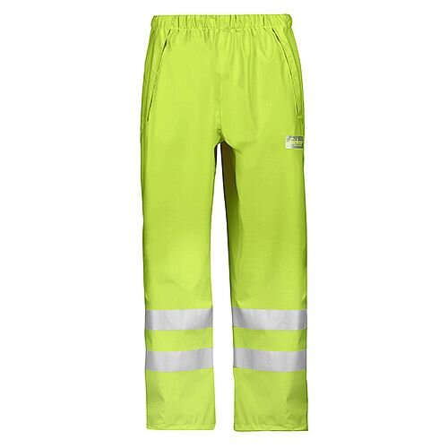 Snickers 8243 High-Vis PU Rain Trousers, Class 2 Size XL Yellow