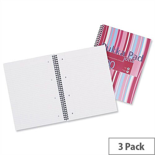 Pukka Pad Jotta A4 Notebook Ruled 200 Pages Assorted Pack 3