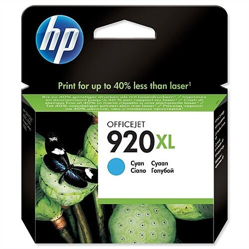 HP 920XL Cyan Ink Cartridge CD972AE