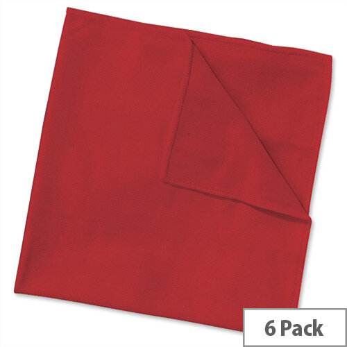 Wypall Microfibre Cleaning Cloths for Dry or Damp Multisurface Use Red Ref 8397 Pack 6 840920