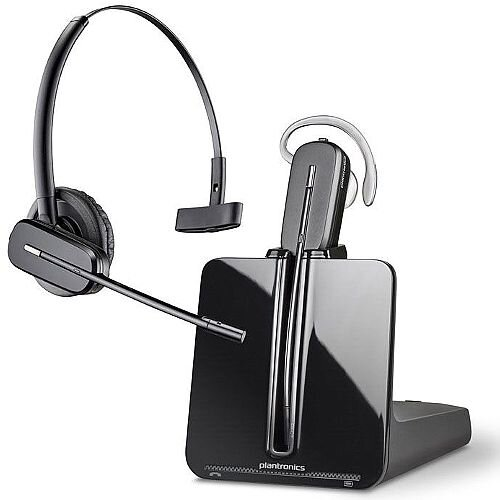 Plantronics CS540 Lightweight (21g) Wireless Headset, Range up to 120metres, 7 hours talktime, Energy Saving Feature