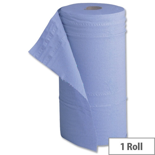 5 Star Hygiene Roll 10 Inch Width Recycled Cleaning Paper 2-ply 130 Sheets W251xL457mm 40m Blue