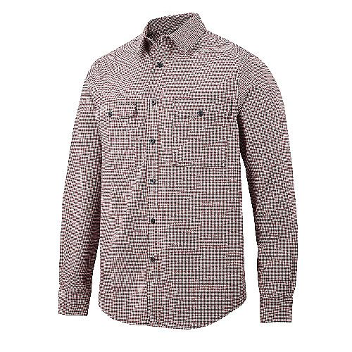 Snickers 8507 AllroundWork Comfort Checked LS Shirt Size L Red/Navy